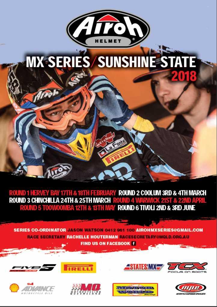 Airoh Helmets returns as title sponsor for the 2018 Sunshine State Motocross Series (SSMX)