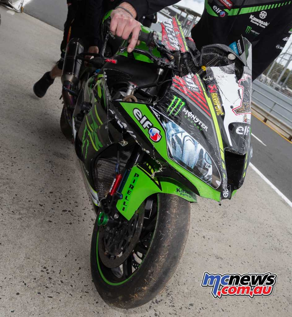 Rea crashed at turn 11 - Image by TBG