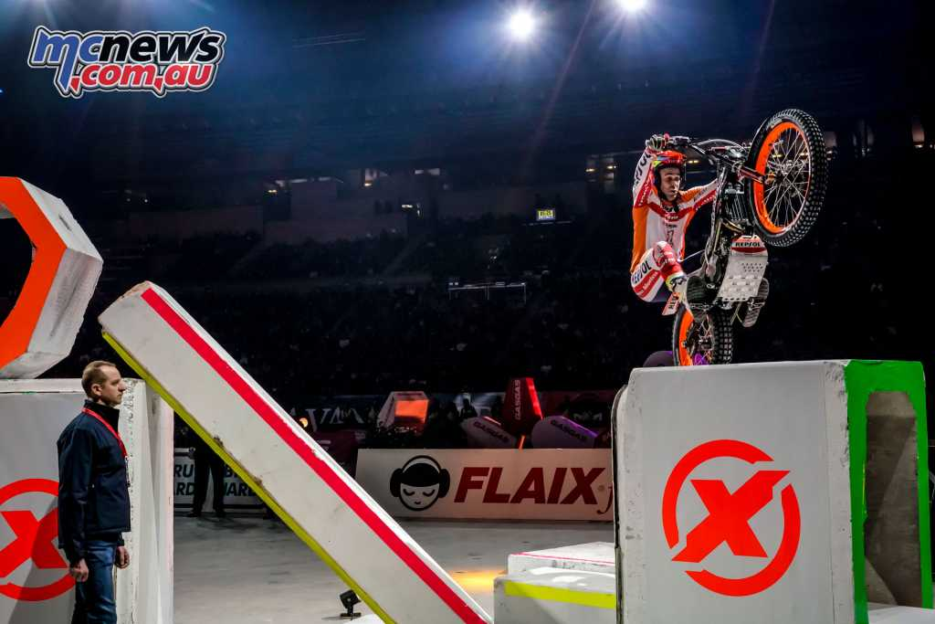 Toni Bou injured in a major fall on Sunday night while competing in an X-Trial event in Le Mans, France