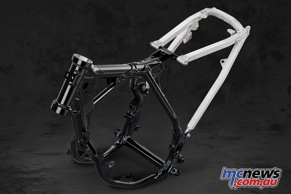 The steel semi double-cradle frame