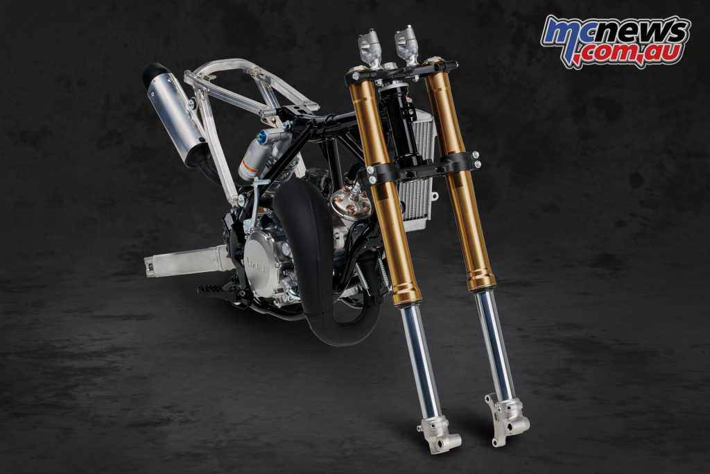 Adjustable 36mm KYB forks are found on the YZ65