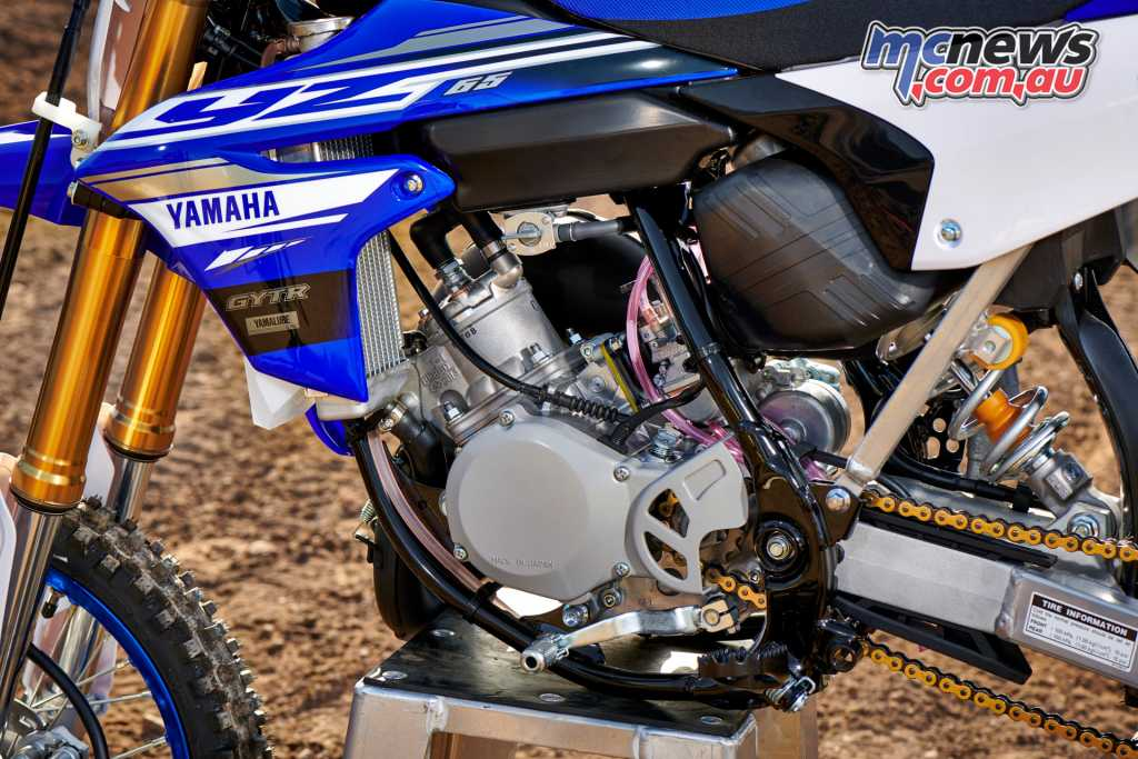 The heart of the YZ65 is a two-stroke 64.8cc powerplant with YPVS and reed-valve induction