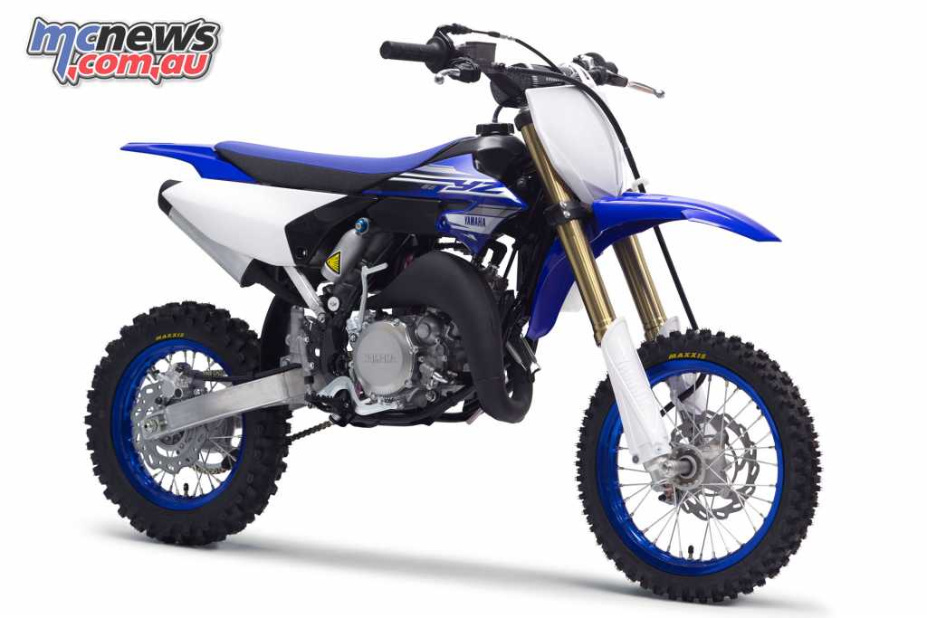 The Yamaha YZ65 also features adjustable suspension and a removable rear sub-frame