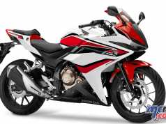 2018 Honda CBR500R in Pearl Metalloid White/Grand Prix Red
