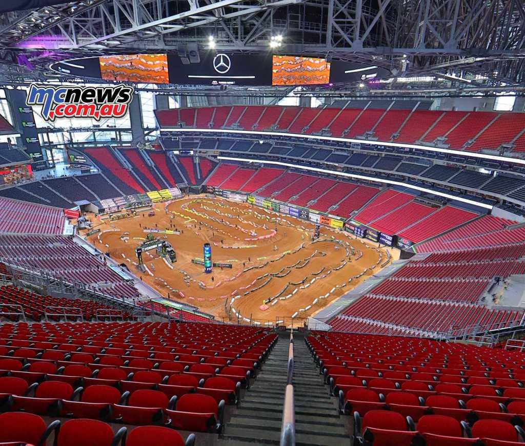 Mercedes-Benz Stadium in Atlanta, Georgia