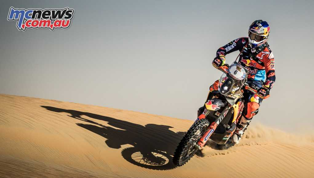 Toby Price faced problems in the Abu Dhabi Desert Challenge Stage 2