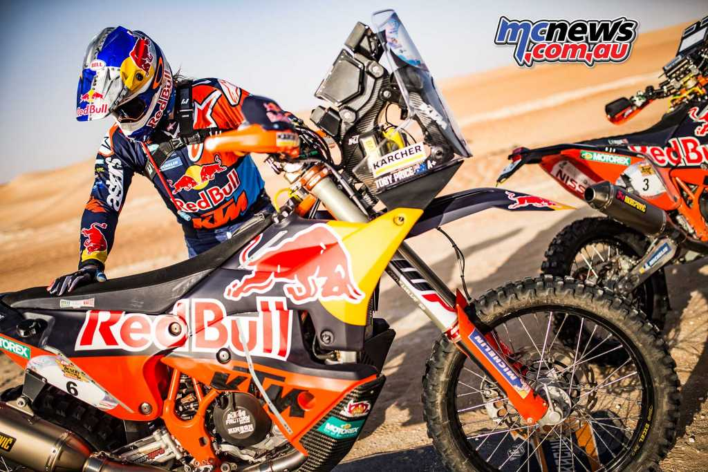 Toby Price second on stage - eighth overall