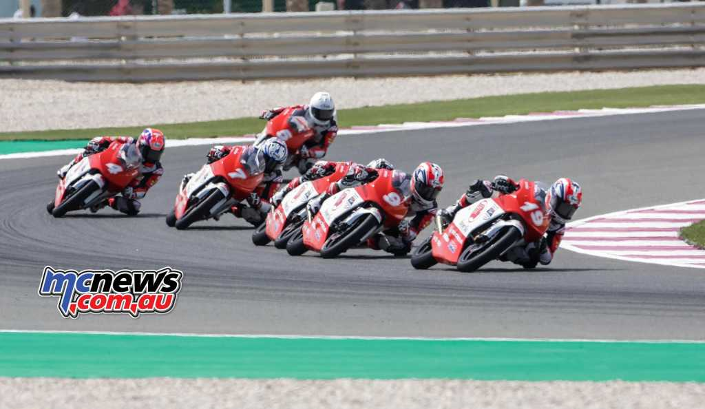 Billy van Eerde leads the Asia Talent Cup field at Losail