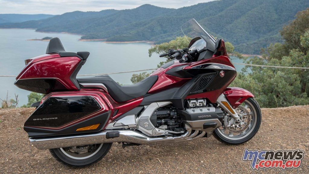 2018 Honda Gold Wing above Lake Eildon