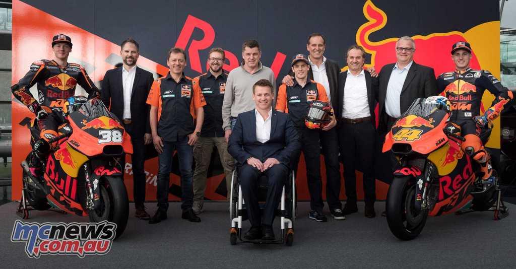 Pit Beirer (KTM Motorsport Director) with the Red Bull KTM MotoGP Team