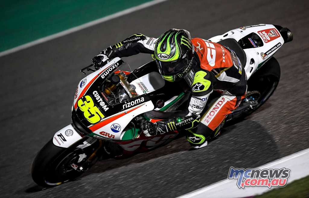 Cal Crutchlow was the quickest Honda at #QatarTest Day One