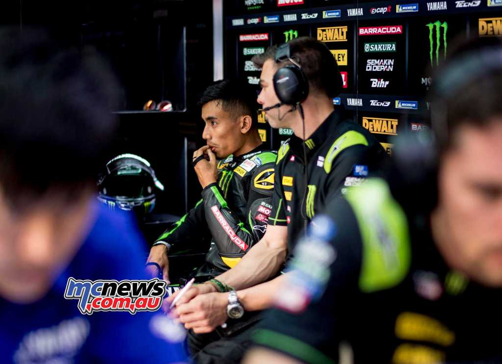 Hafizh Syahrin is making a promising start to his MotoGP career at Tech3 Yamaha