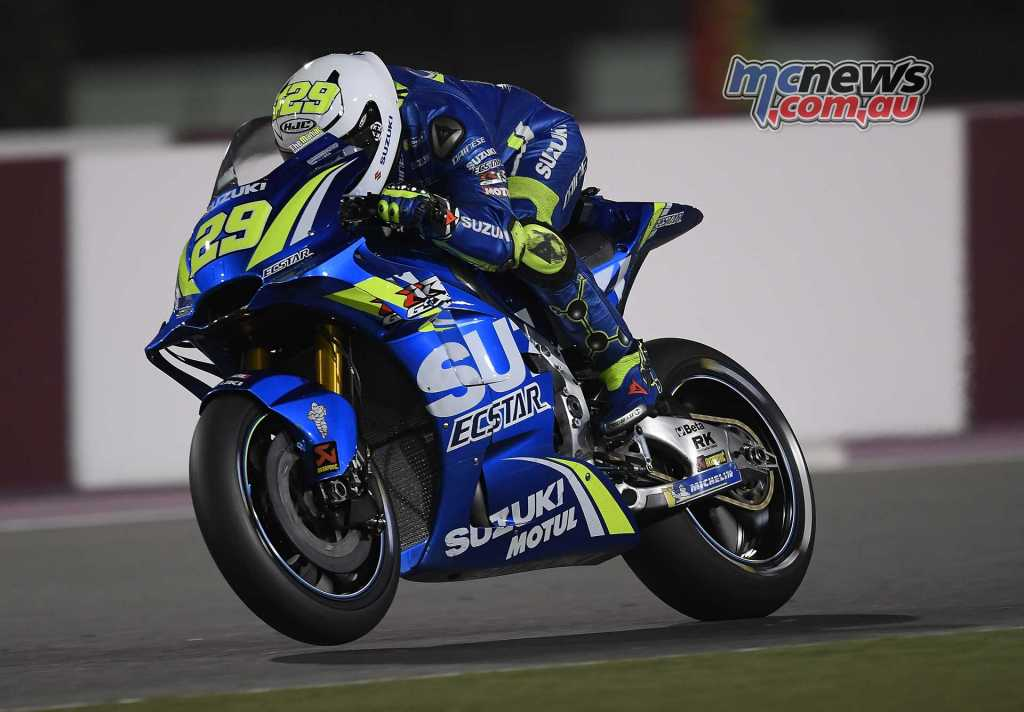 Andrea Iannone topped the second day of MotoGP #QatarTest at Losail