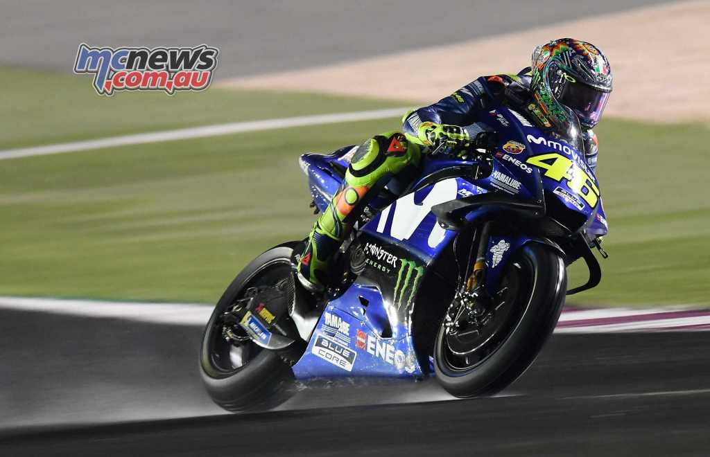 Valentino Rossi is starting to find some headway on the latest spec' YZR-M1