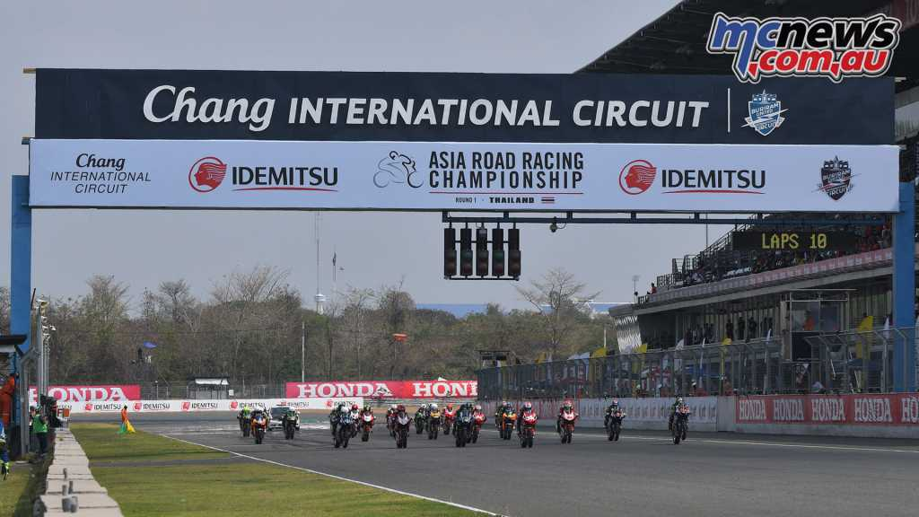 The Asia Production 250cc also kicked off