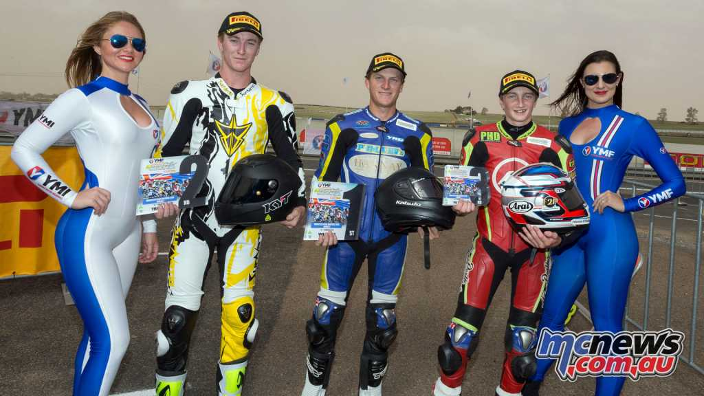 The Wakefield Park Round 2 R3 Cup Overall podium
