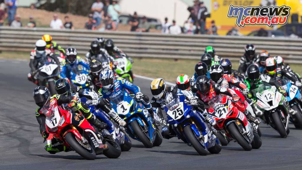 ASBK proved highly competitive at Wakefield Park with things heating up between Maxwell and Herfoss - Image by TBG Sport