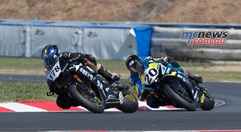 Alex Phillis chases Michael Blair - ASBK Round Two - Image by TBG