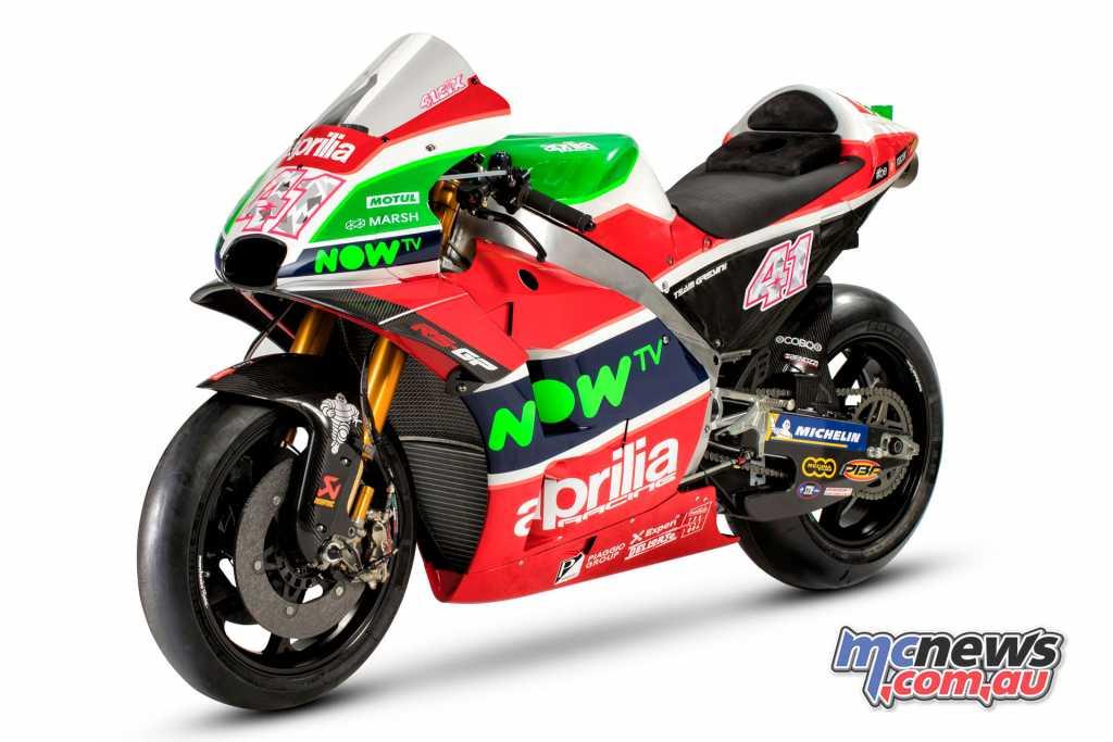 The Aprilia Racing Team Gresini 2018 RS-GP
