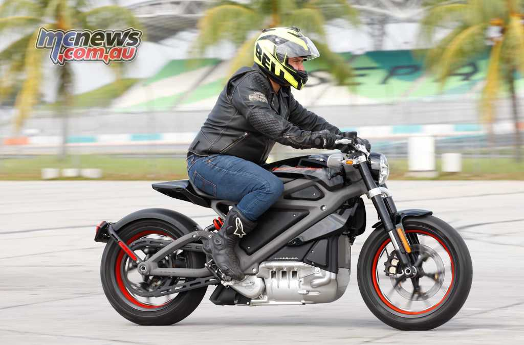 Trev on the Harley-Davidson Livewire prototype in Malaysia
