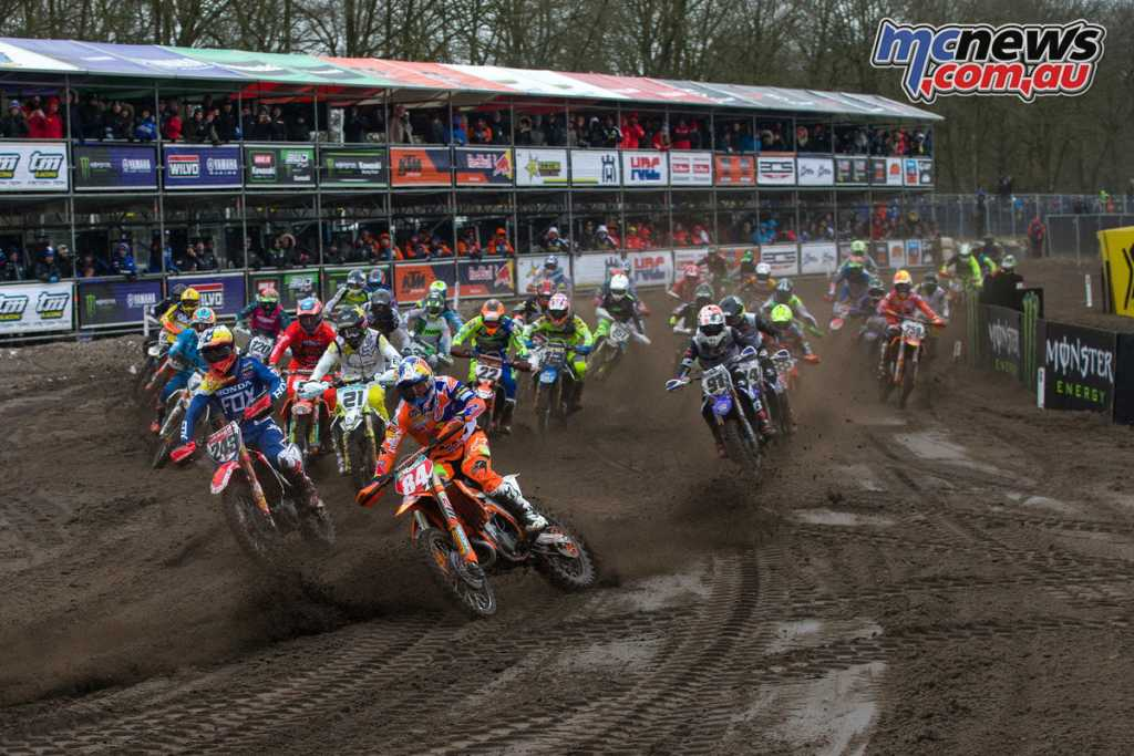 Jeffrey Herlings leads the 450 field - Image by Ray Archer