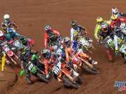 Pauls Jonass leading the MX2 field towards victory