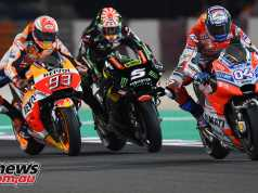 Dovizioso takes the Round 1 MotoGP win from Marquez