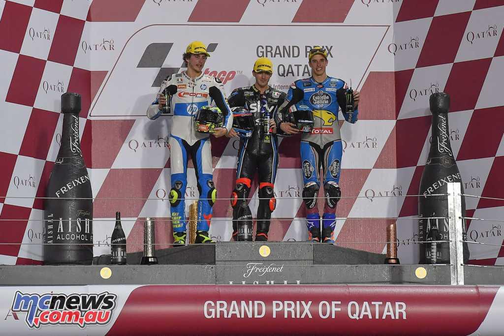 The Moto2 Podium at Qatar