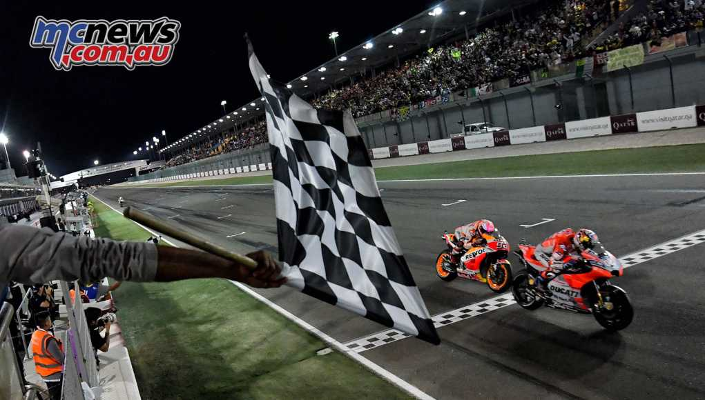 Dovizioso battles Marquez to the line for victory
