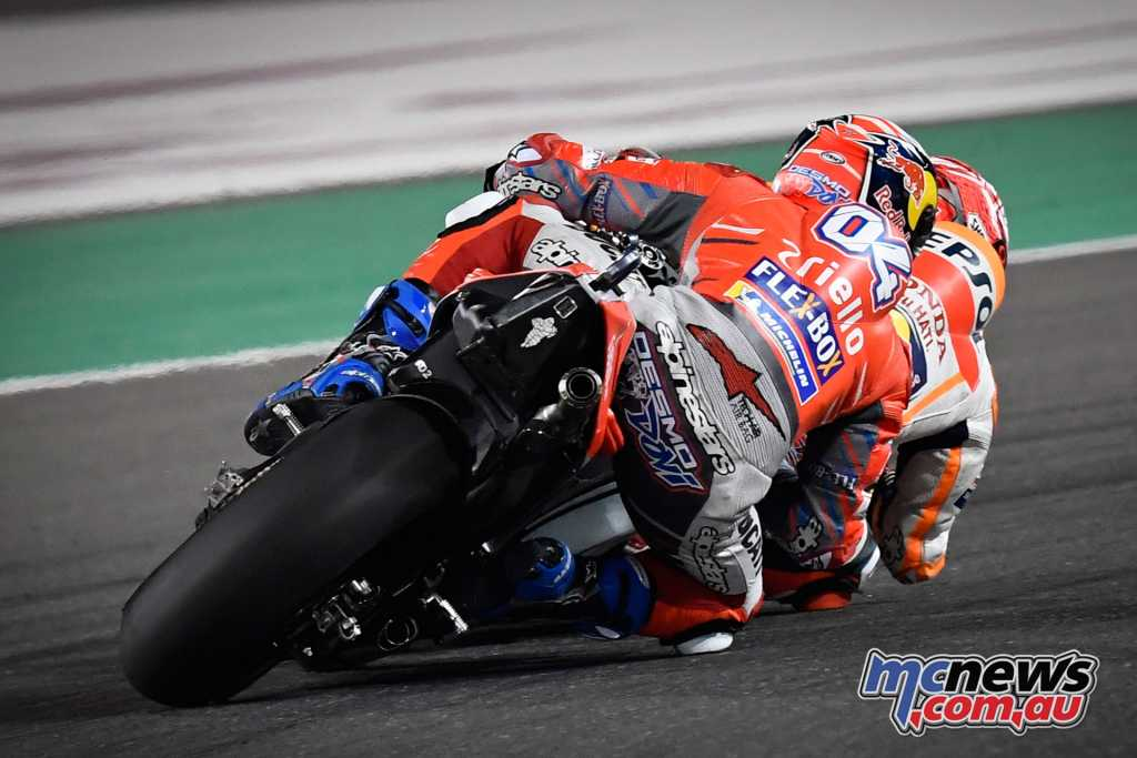 Into the final corner there was nothing separating Marquez and Dovizioso