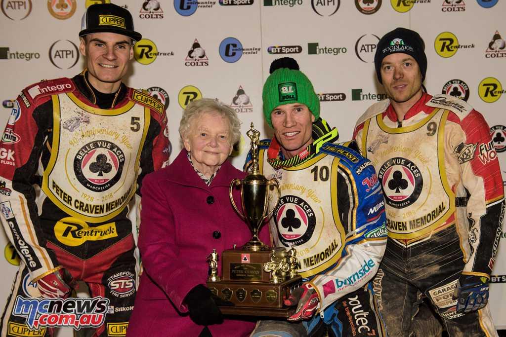Jason Doyle won the 2018 Peter Craven Memorial Trophy