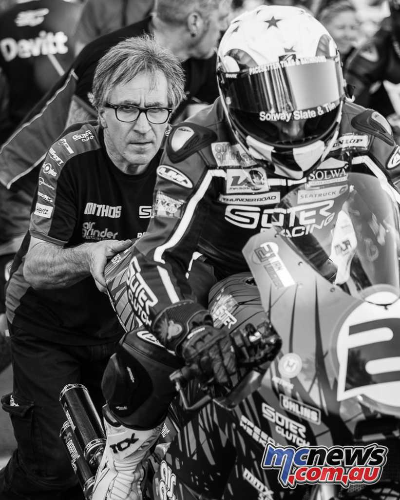 Suter will return in 2018 to the Isle of Man TT, with their V4 two-stroke racer