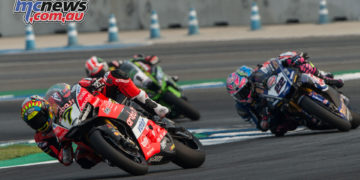 Chaz Davies became the third race winner for 2018 at Race 2 in Thailand