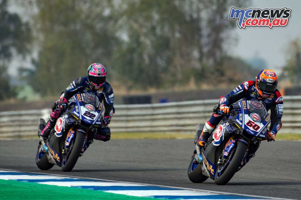 Yamaha duo Van Der Mark and Lowes completed the podium