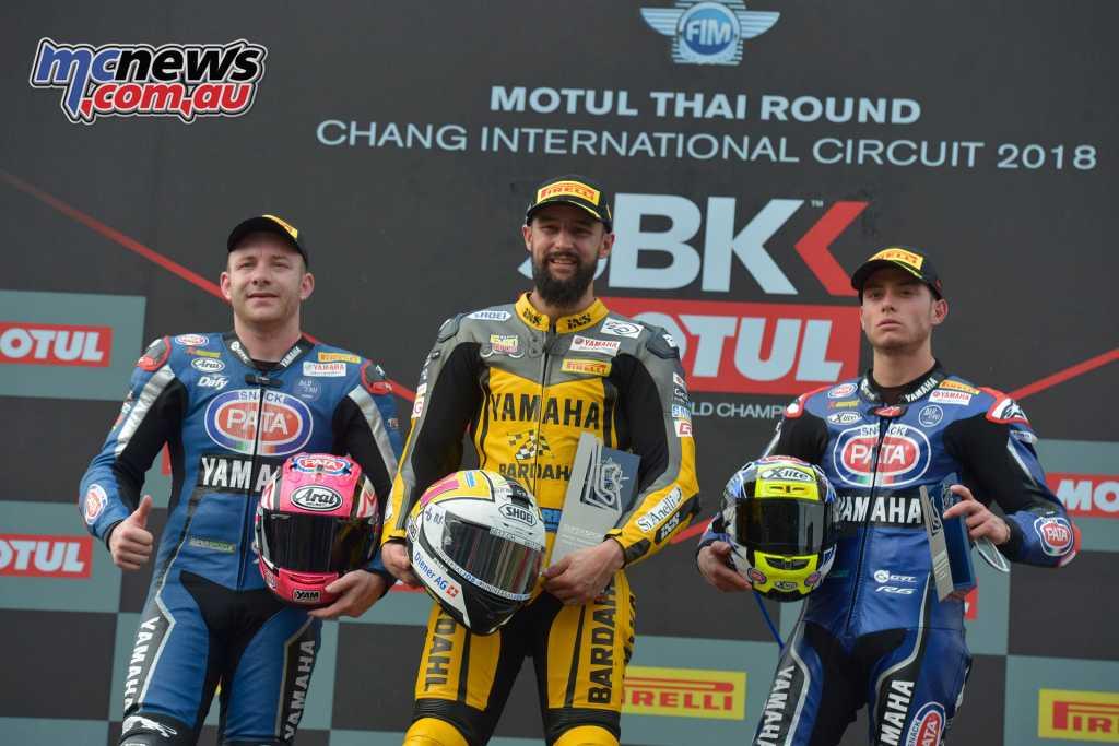 WorldSBK 2018 - Round 2, Thailand - Supersport Podium