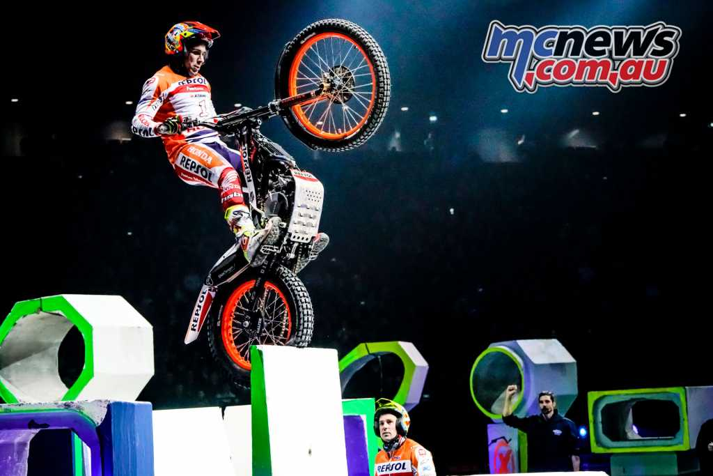 Toni Bou on his way to a 5th place finish in Paris, enough to claim the overall title