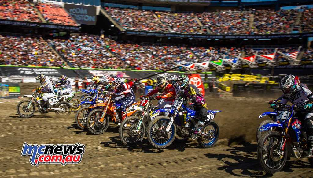 Action kicks off at the Foxborough SX