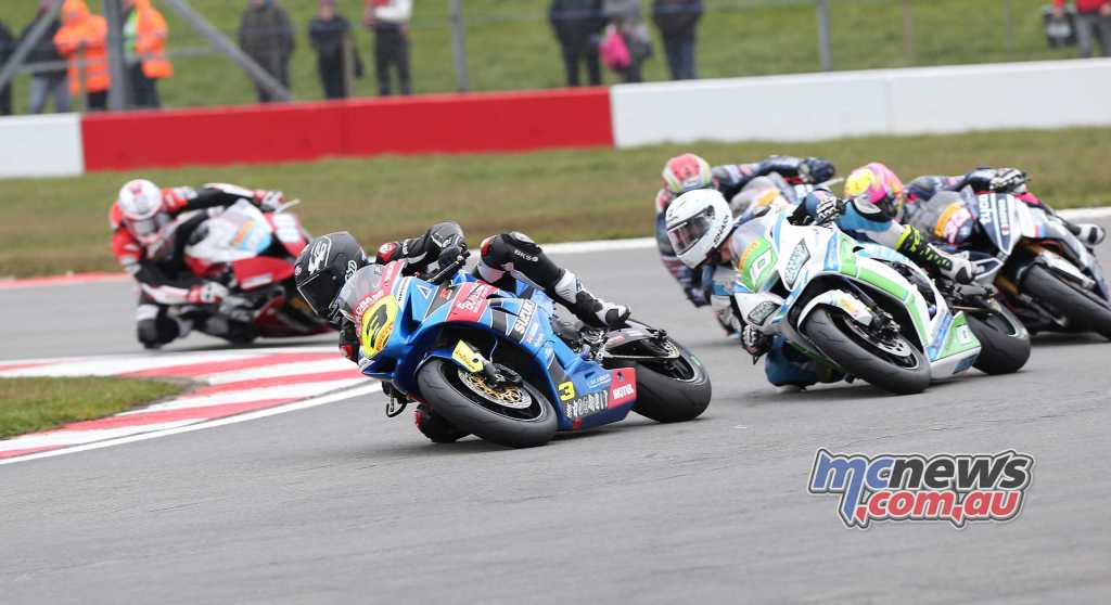 Billy McConnell leading the Superstock 1000 class - Image by David Yeomans