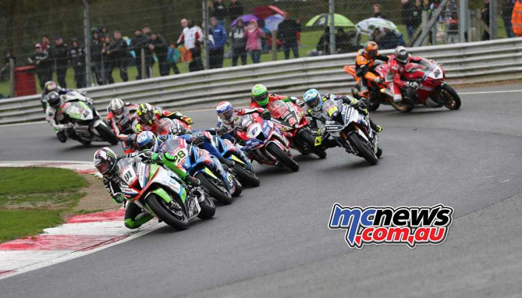Leon Haslam leads Bradley Ray at Brands Hatch