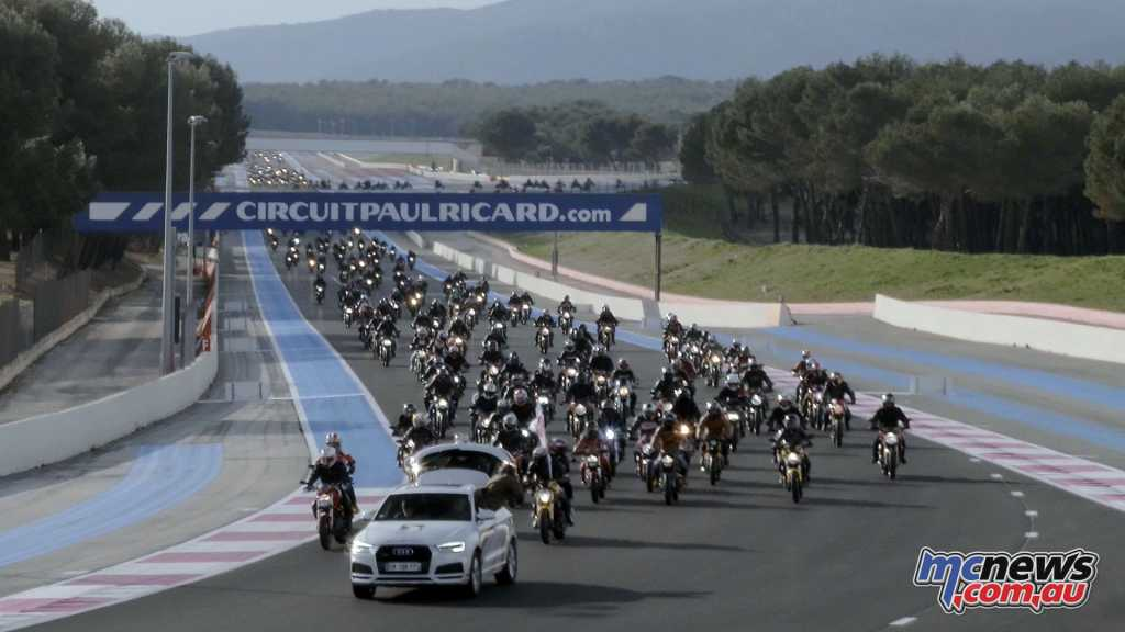 The parade proceeded through the Paul Ricard circuit at Le Castellet