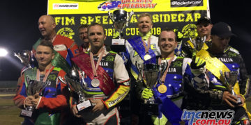 Australia's Treloar and Headland took out the Speedway Sidecar World Cup, as well as Oceania Championship victory at Gillman Speedway