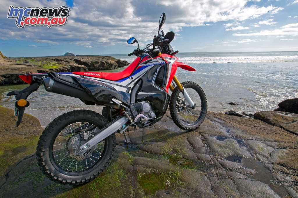 The CRF250L Rally also has undeniably cool graphics and styling