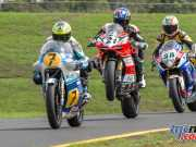 The GP Legends Clash at InterFOS isn't technically a race, but there's plenty of competition on display - Chris Vermeulen, Troy Corser and Pierfrancesco Chili