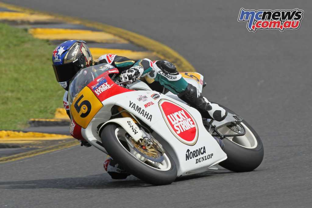 A very special moment when Corser raced Magee's second place winning 1992 All Japan Championship YZR500in the Two-Stroke GP class