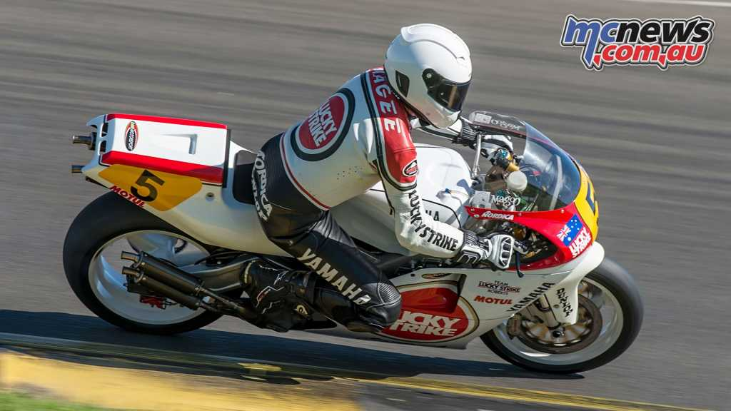 Kevin Magee on the Lucky Strike YZF500