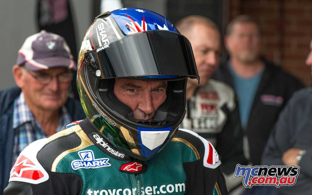 Troy Corser, and his Dad Steve in the background