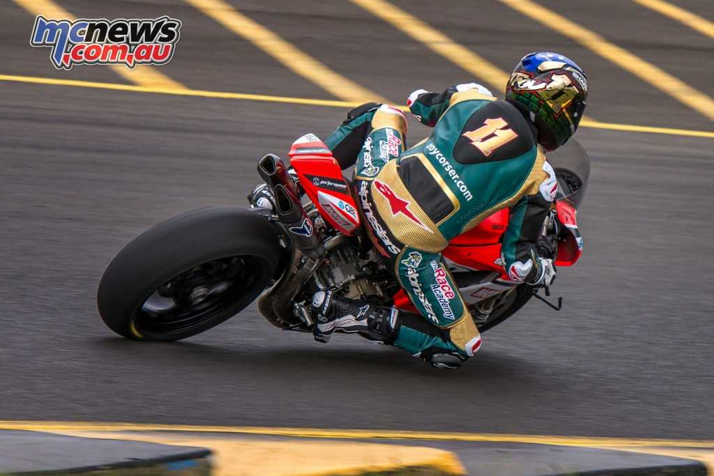 Troy Corser on Bayliss's Desmo Sport Ducati Panigale
