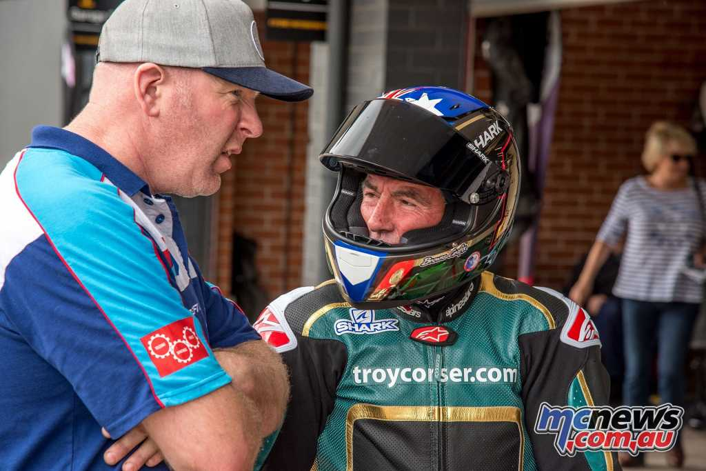 Corser had a disappointing end to his Superbike aspirations in the P5 class, with engine problems forcing him to retire