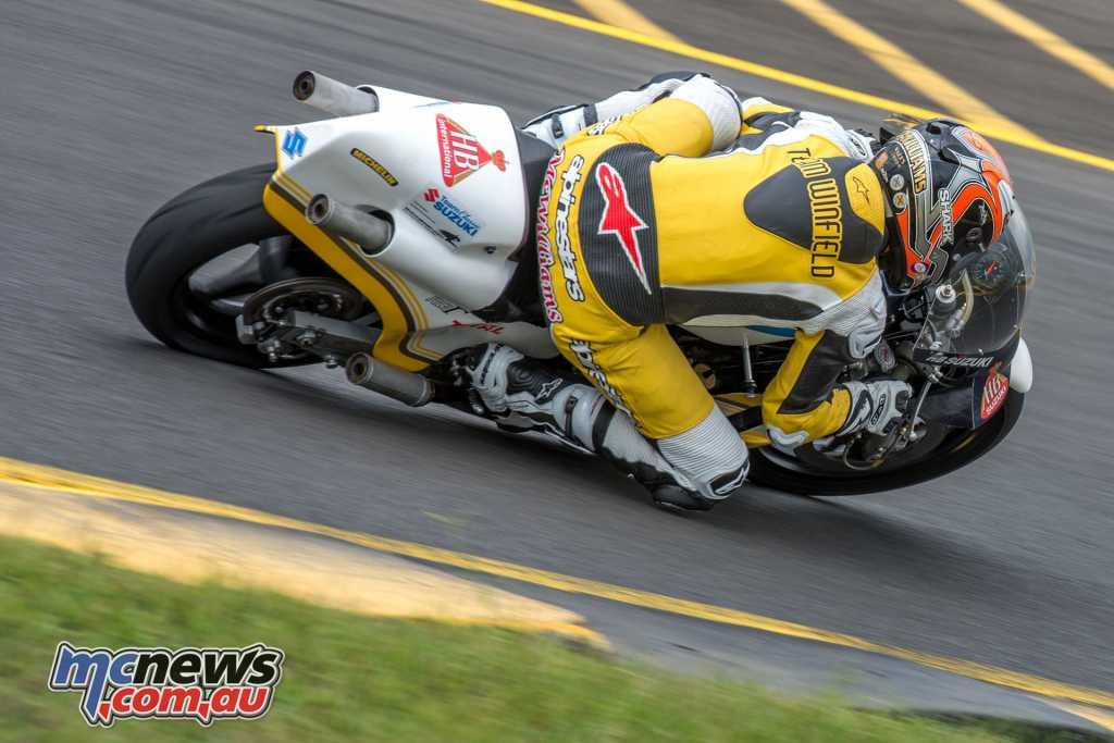McWilliams on the Wheatfield Suzuki RGB500 two-stroke