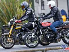 The new 2018 Kawasaki Z900RS and a Z1 900 Croz Special